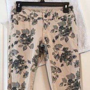 The Limited Floral Jeans, Size 0